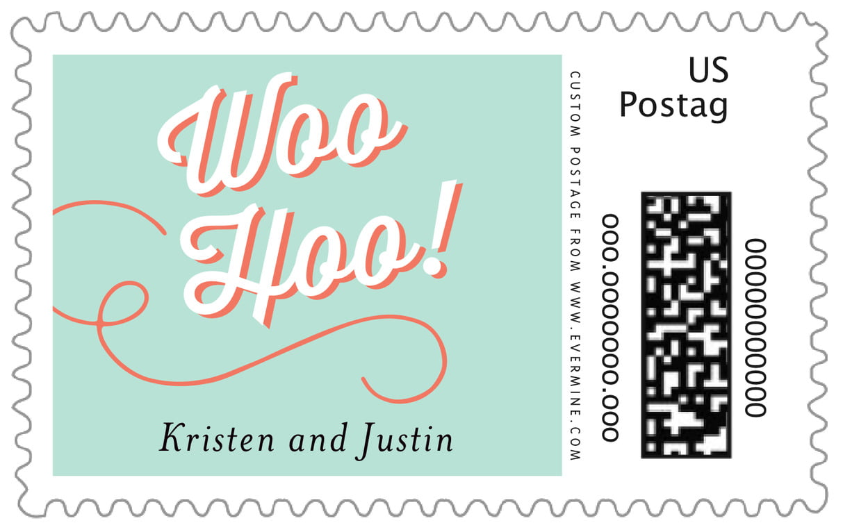custom large postage stamps - sea glass - swing (set of 20)