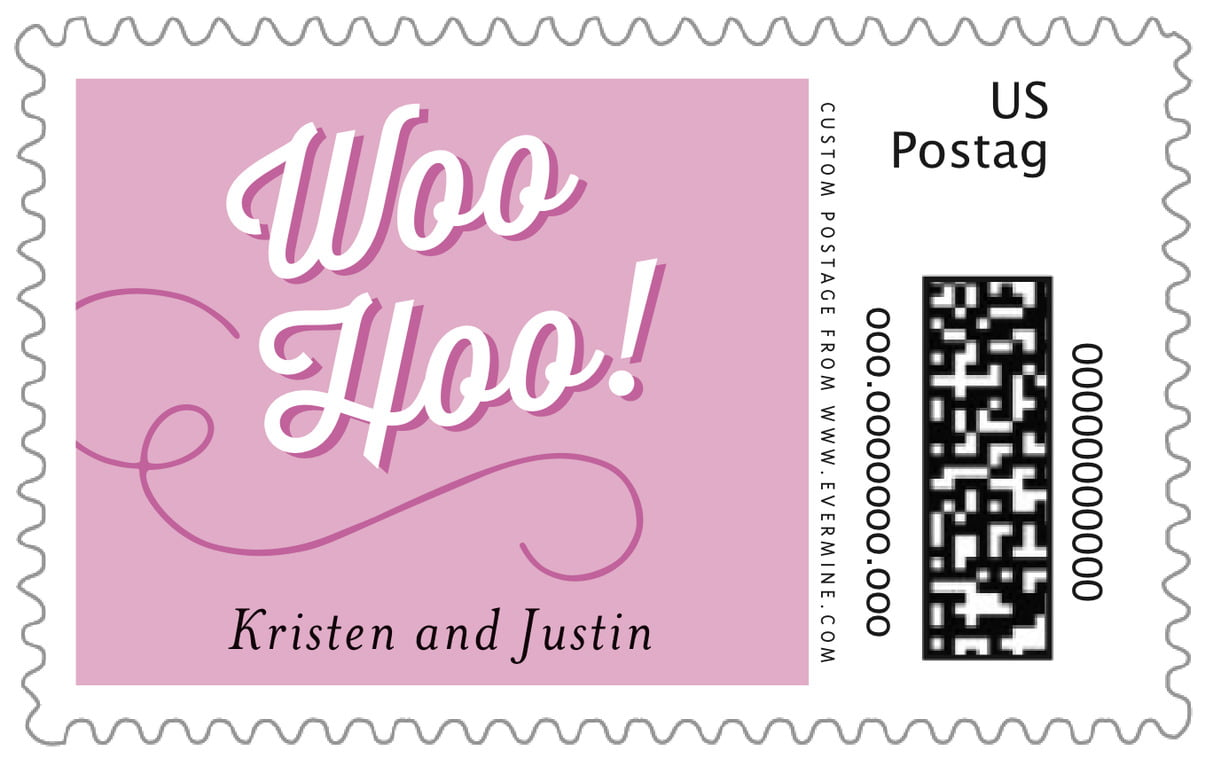 custom large postage stamps - radiant orchid - swing (set of 20)