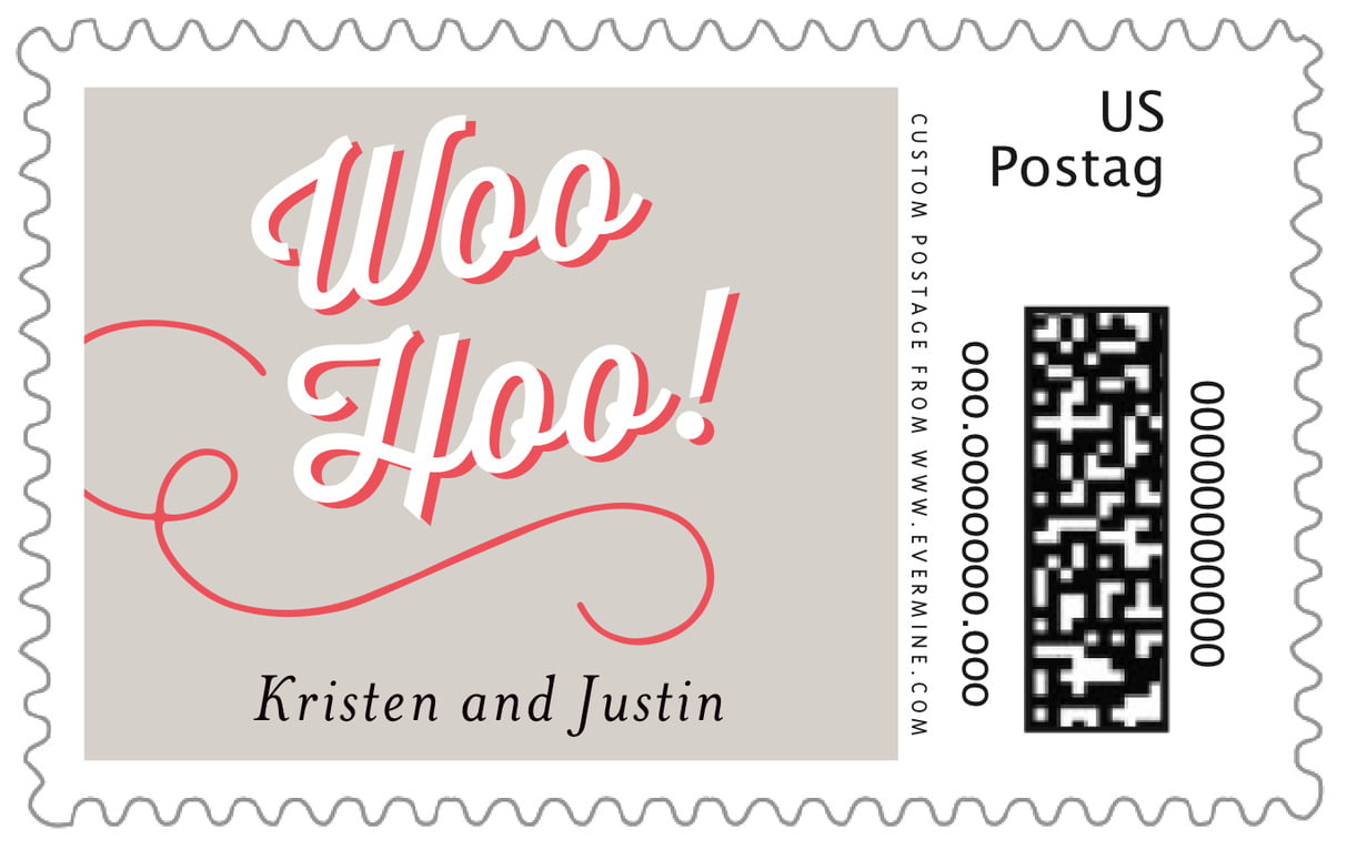 custom large postage stamps - stone - swing (set of 20)