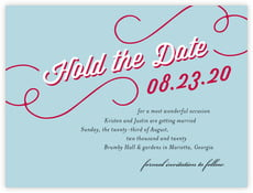 Swing save the date cards