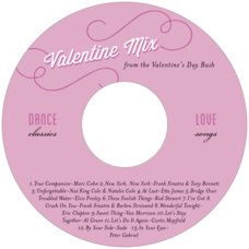 Swing valentine's day CD/DVD labels