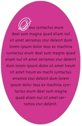 Sweetheart oval text labels