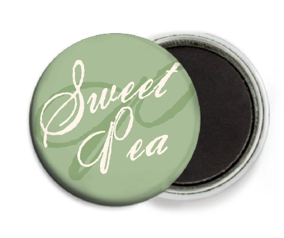 custom button magnets - sage - sweetheart (set of 6)