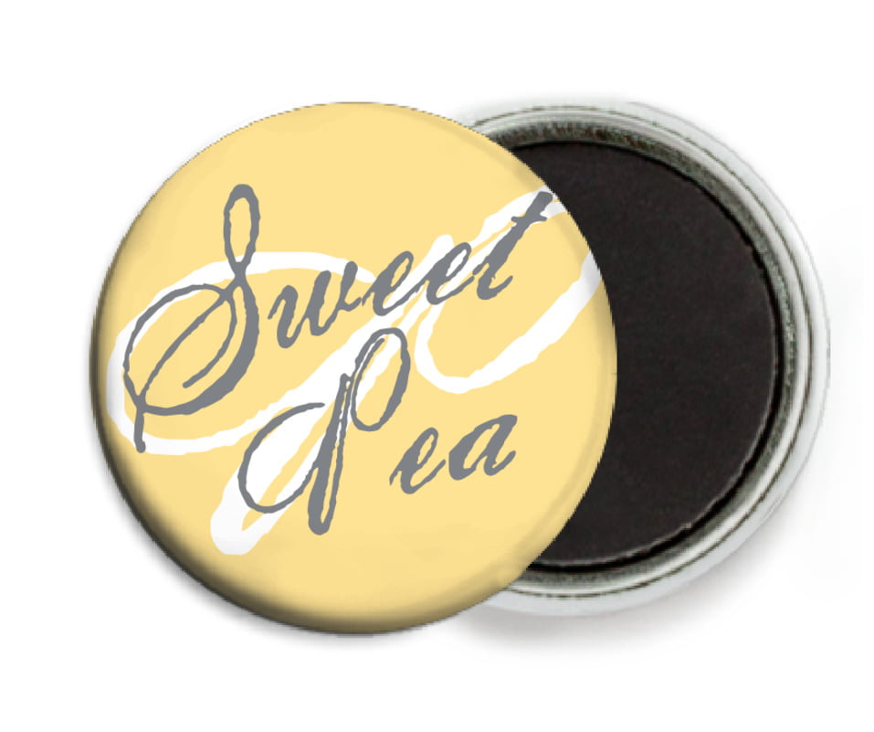 custom button magnets - sunburst - sweetheart (set of 6)
