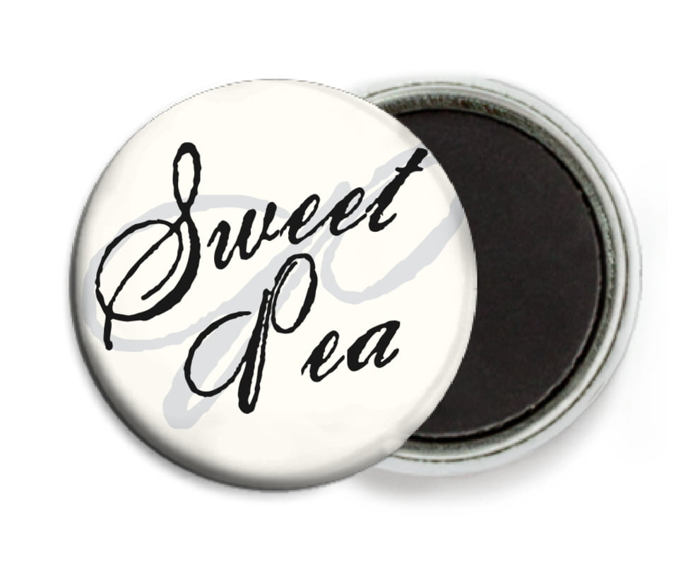 custom button magnets - tuxedo - sweetheart (set of 6)