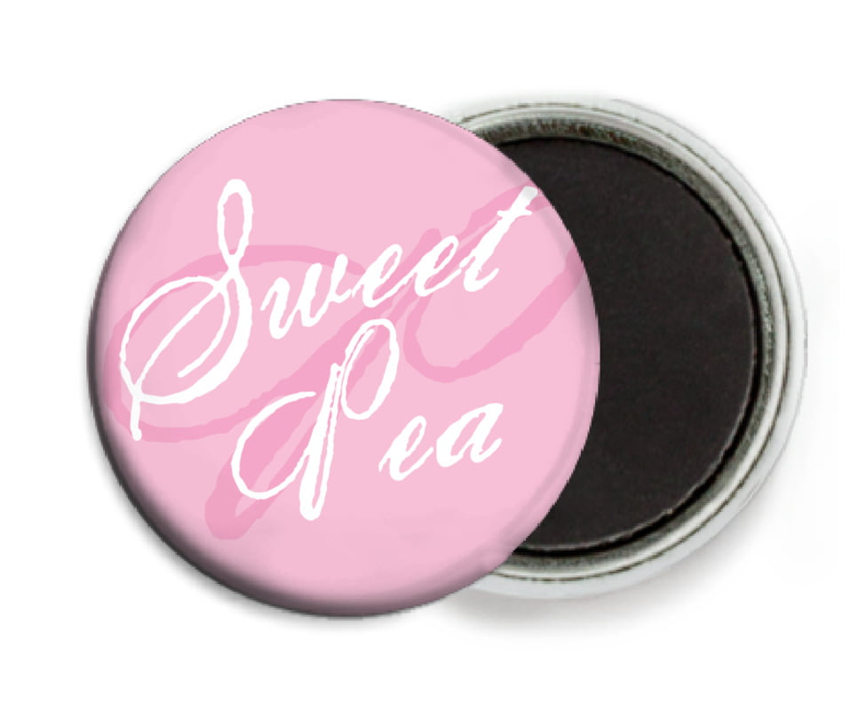 custom button magnets - pale pink - sweetheart (set of 6)