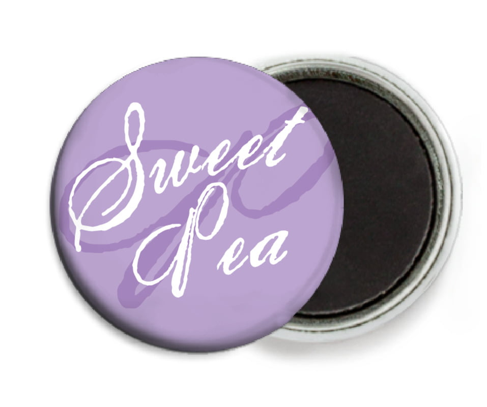 custom button magnets - lilac - sweetheart (set of 6)