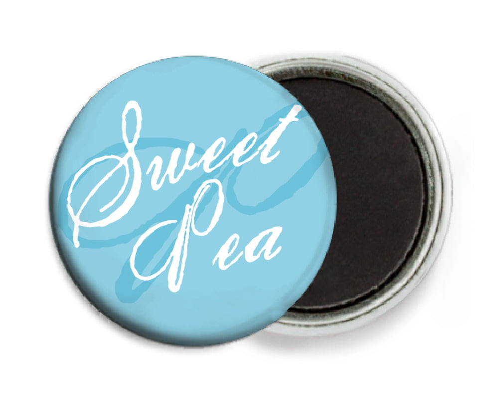 custom button magnets - sky - sweetheart (set of 6)