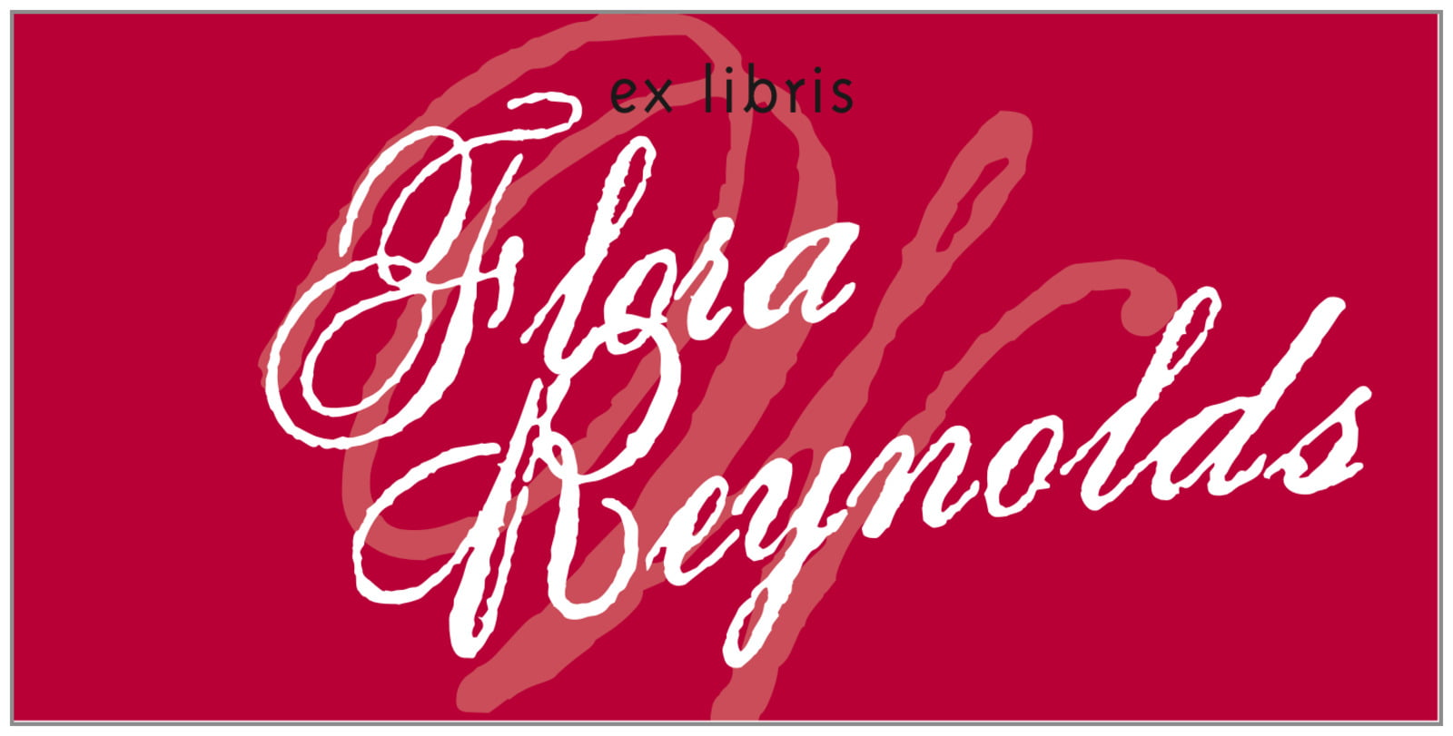 bookplates for everyone - deep red - sweetheart (set of 24)