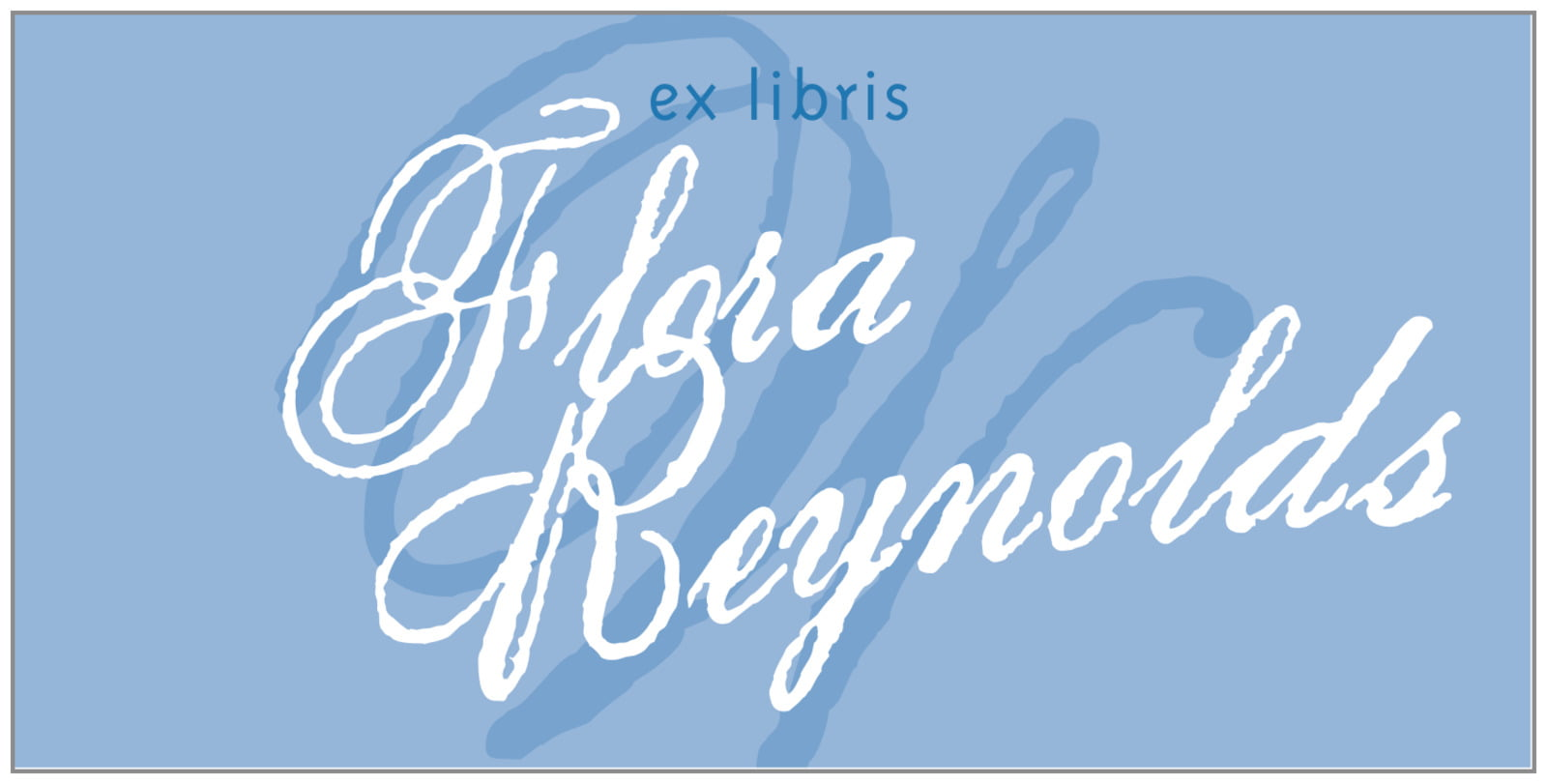 bookplates for everyone - blue - sweetheart (set of 24)