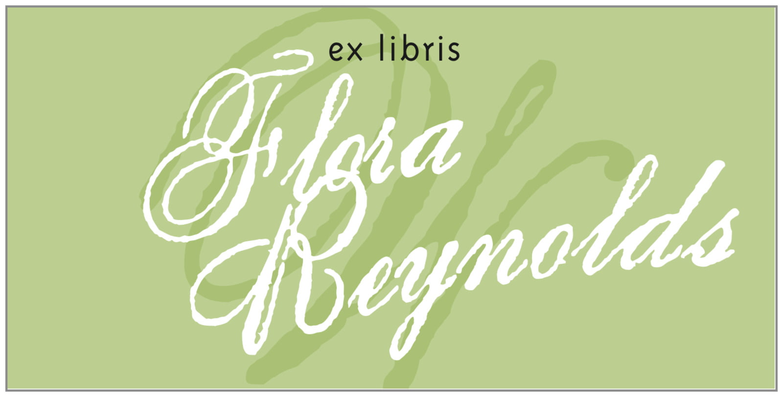 bookplates for everyone - green tea - sweetheart (set of 24)