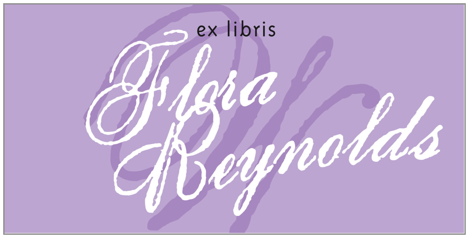 bookplates for everyone - lilac - sweetheart (set of 24)