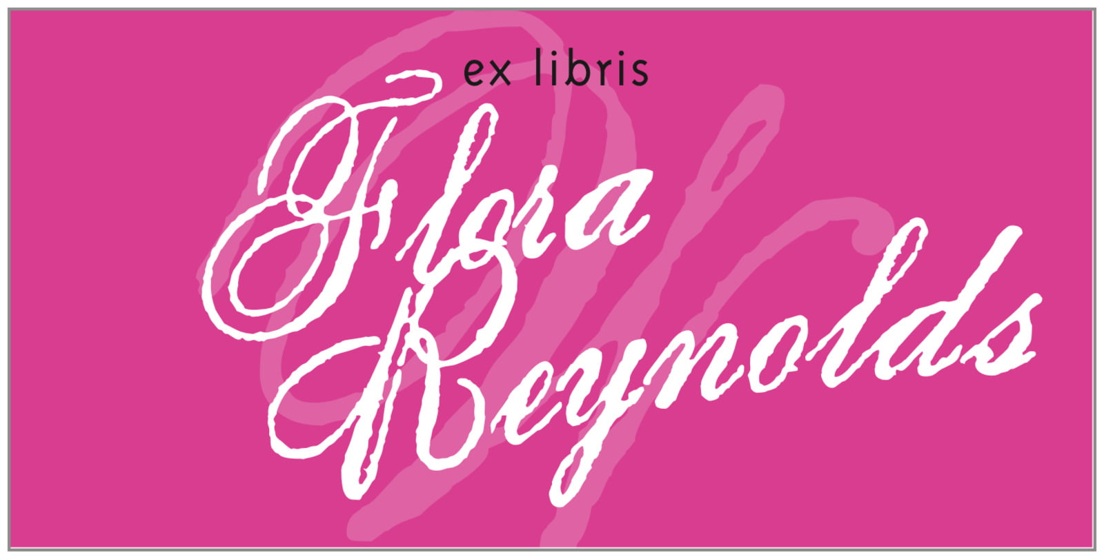 bookplates for everyone - bright pink - sweetheart (set of 24)
