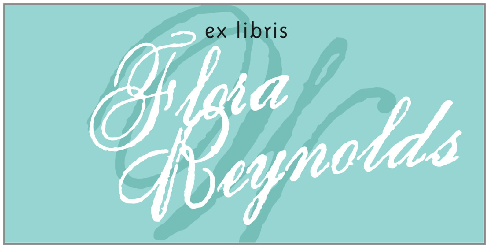 bookplates for everyone - aruba - sweetheart (set of 24)