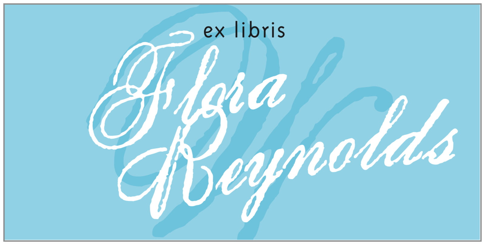 bookplates for everyone - sky - sweetheart (set of 24)