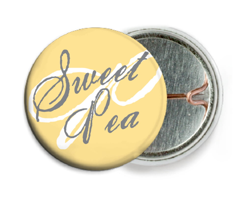 custom pin back buttons - sunburst - sweetheart (set of 6)