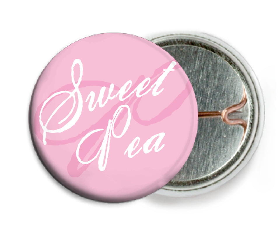 custom pin back buttons - pale pink - sweetheart (set of 6)