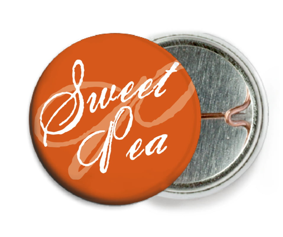 custom pin back buttons - spice - sweetheart (set of 6)