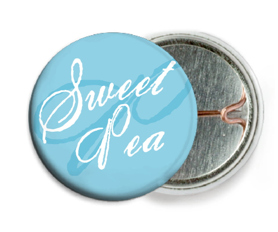 custom pin back buttons - sky - sweetheart (set of 6)