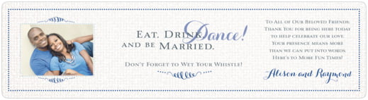 Swash In Love Bottled Water Label In Deep Blue