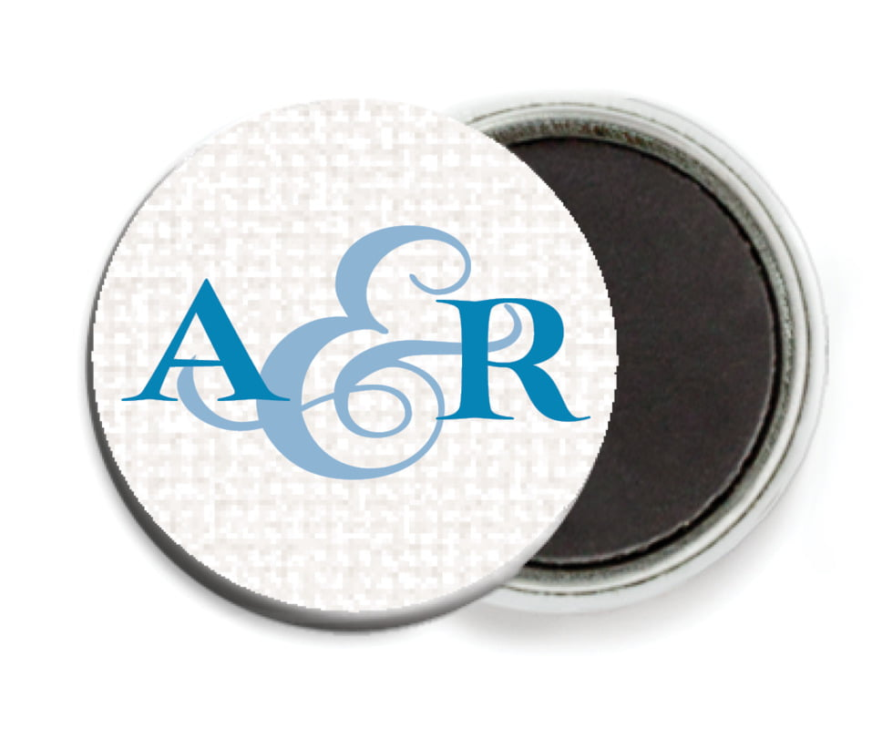 custom button magnets - blue - swash in love (set of 6)