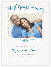 Swash in Love save the date cards
