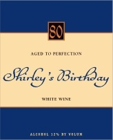 Sydney birthday wine labels