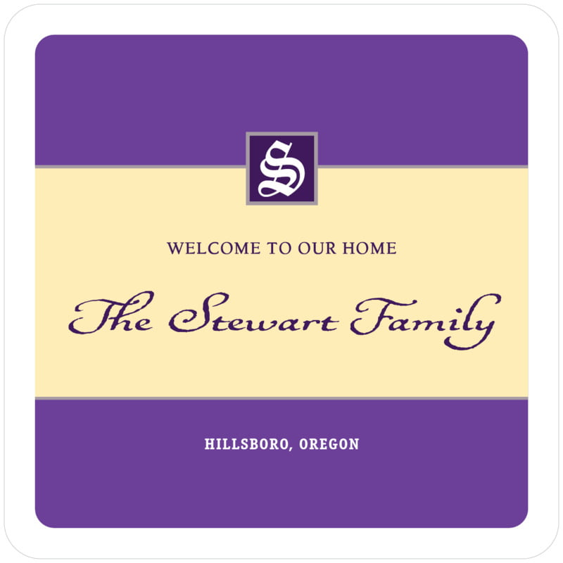 square wine coasters - purple - sydney (set of 12)