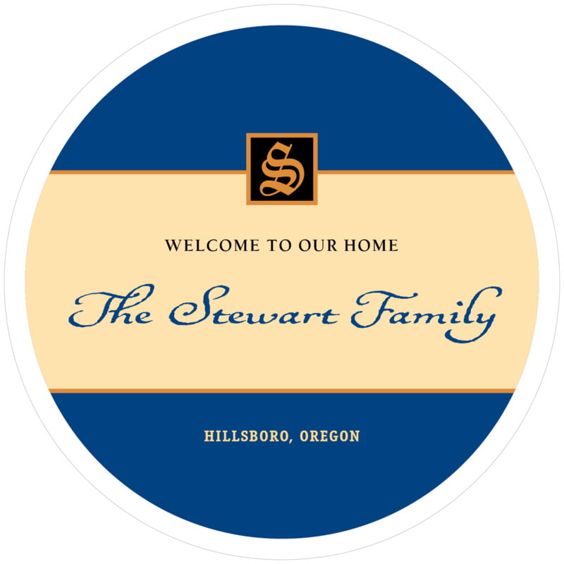 round wine coasters - deep blue - sydney (set of 12)