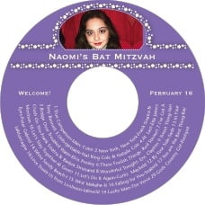 Tiny Charms Cd Label In Lilac
