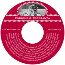 Tiny Charms holiday CD/DVD labels