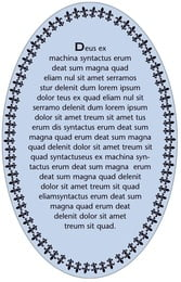Tiny Charms oval text labels