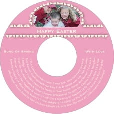 Tiny Charms Cd Label In Pale Pink