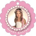 Tiny Charms Scallop Hang Tag In Pale Pink