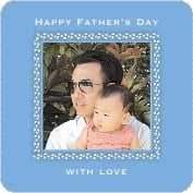 Tiny Charms father's day coasters