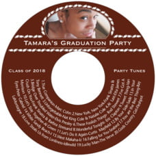 Tiny Charms graduation CD/DVD labels