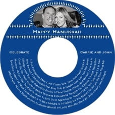 Tiny Charms Cd Label In Deep Blue