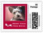Tiny Charms Small Postage Stamp In Deep Red
