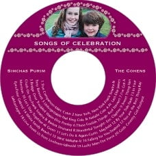 Tiny Charms Cd Label In Burgundy