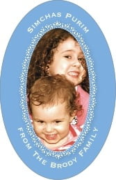 Tiny Charms tall oval labels