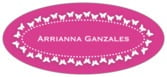 Tiny Charms Oval Label In Bright Pink