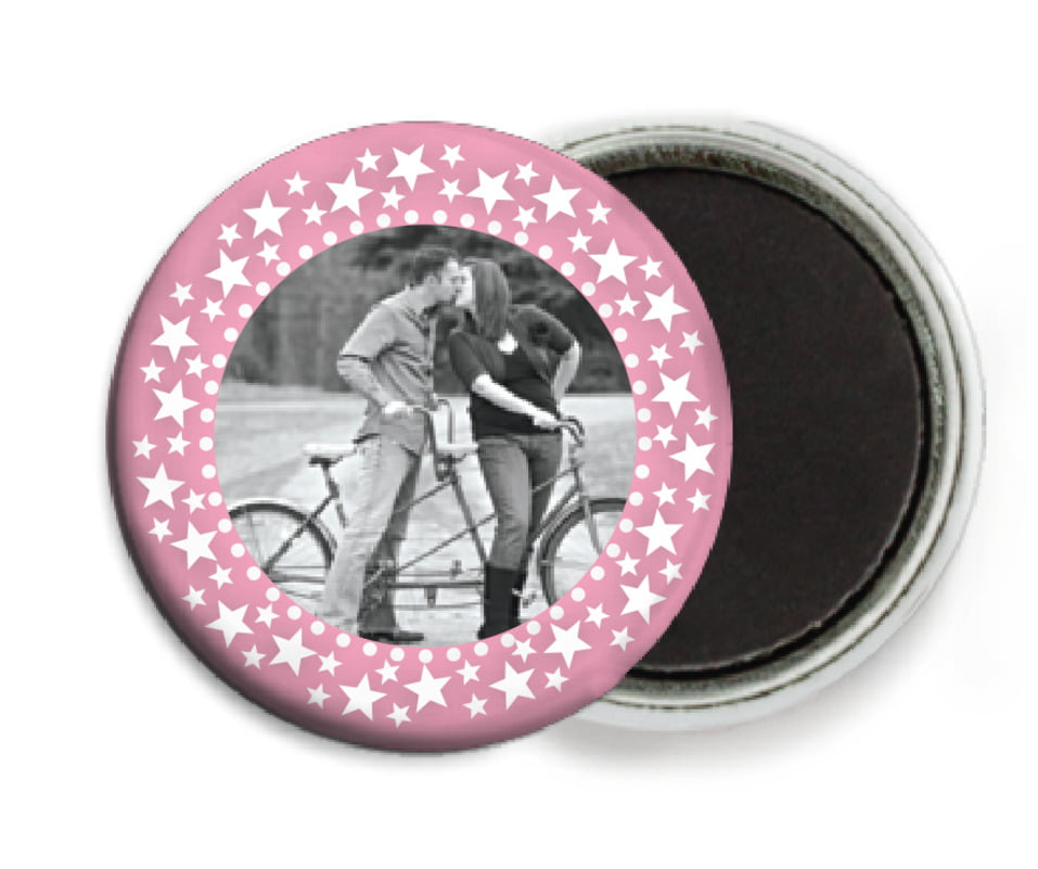 custom button magnets - pale pink - tiny charms (set of 6)