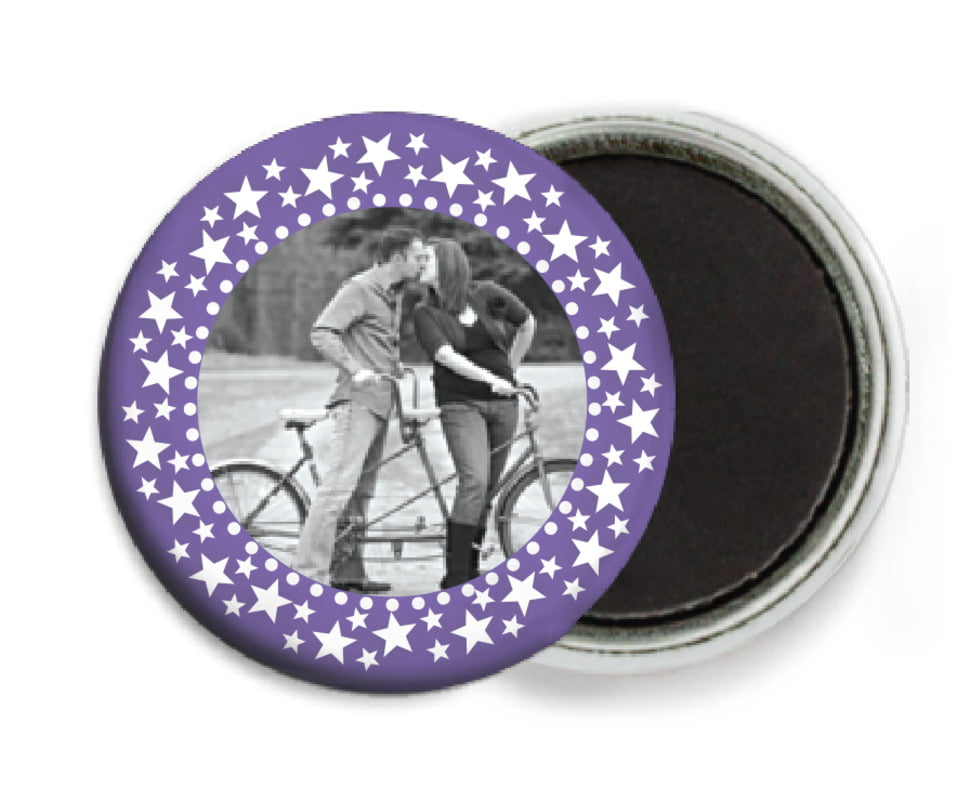 custom button magnets - lilac - tiny charms (set of 6)