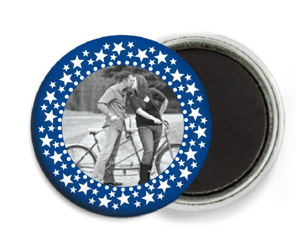 custom button magnets - deep blue - tiny charms (set of 6)