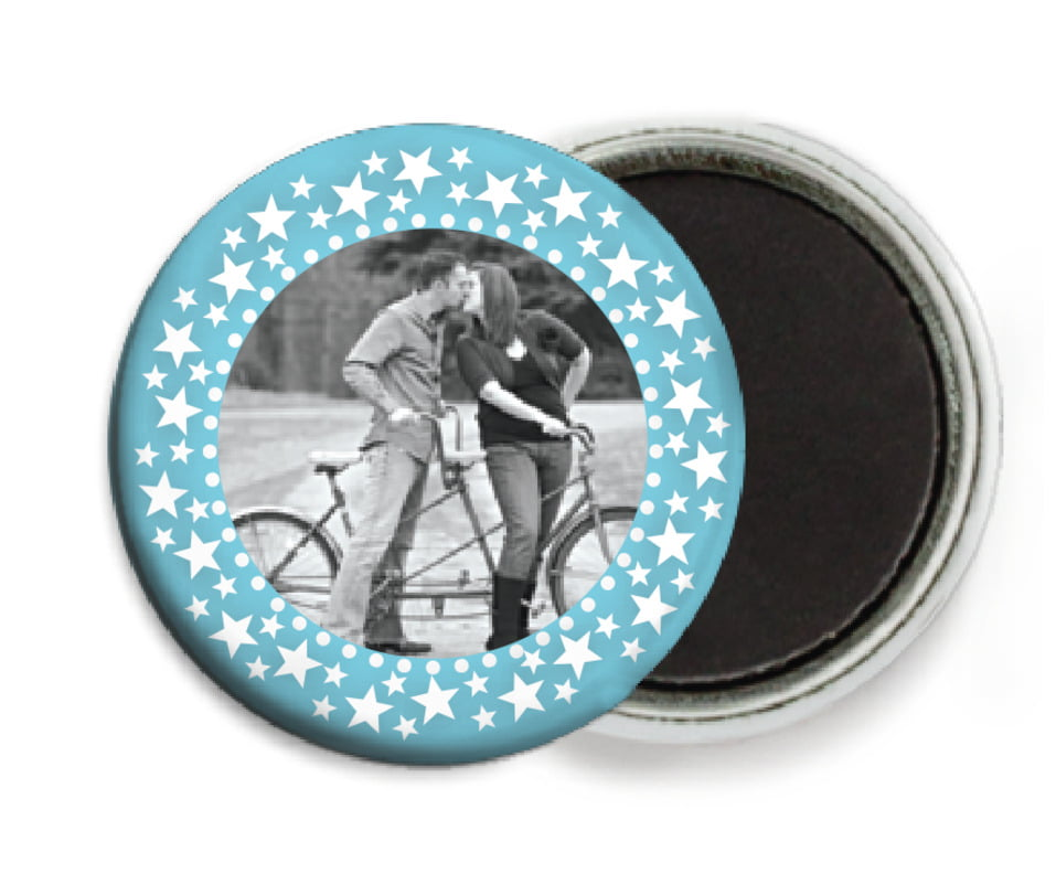 custom button magnets - sky - tiny charms (set of 6)
