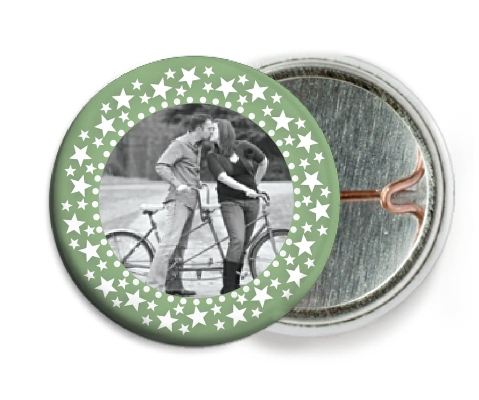 custom pin back buttons - sage - tiny charms (set of 6)