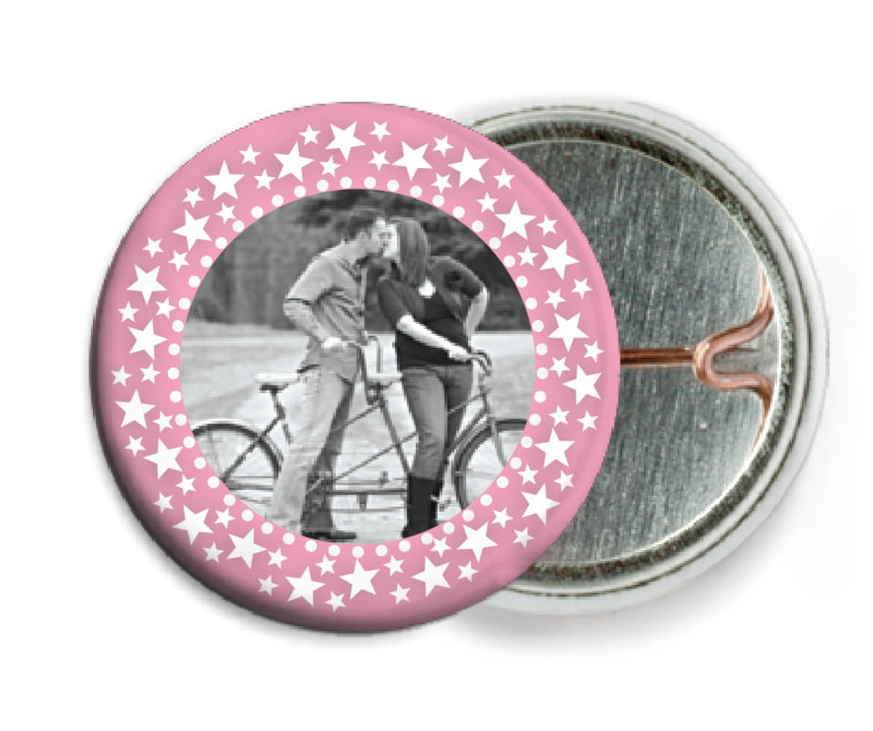 custom pin back buttons - pale pink - tiny charms (set of 6)