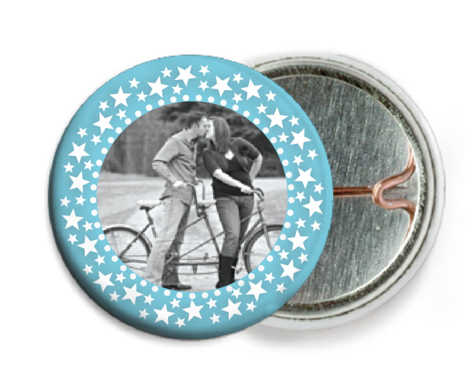 custom pin back buttons - sky - tiny charms (set of 6)