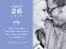 custom save-the-date cards - periwinkle - tiny charms (set of 10)