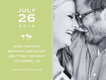 custom save-the-date cards - green tea - tiny charms (set of 10)